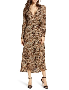 Long Sleeve Midi Wrap Dress by All In Favor