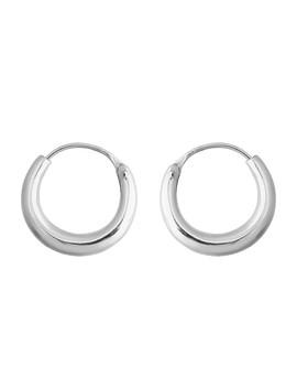 Sterling Silver Minimal Thick Hoop Earring by Sportsgirl