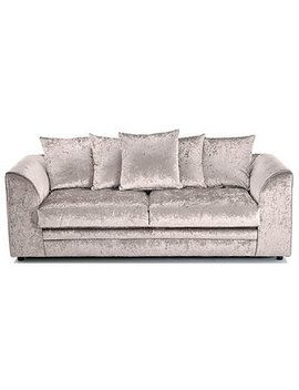 Michigan Velvet 3 Seater Sofa by Dunelm