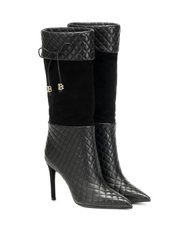 Mina Leather Knee High Boots by Balmain