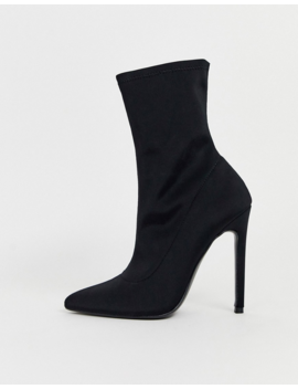 Asos Design Esmerelda High Heeled Sock Boots In Black by Asos Design