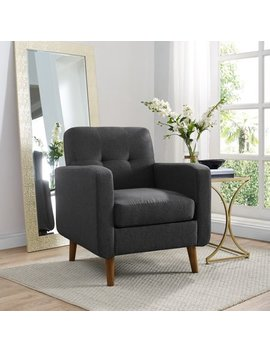 Mainstays Helena Mid Century Modern Upholstered Arm Chair, Grey by Mainstays
