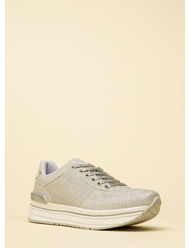 Go For The Glitter Platform Sneakers by Go Jane