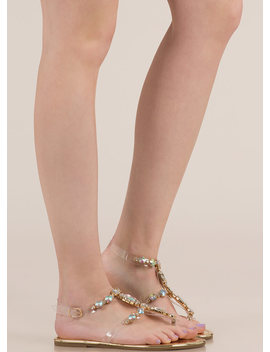 I Rule The Gem Pire Jeweled Sandals by Go Jane