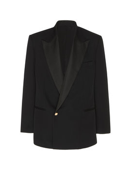 Fitted Shawl Collar Jacket by Brandon Maxwell