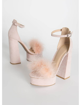 Founding Feathers Chunky Furry Platforms by Go Jane