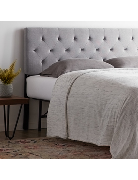 Rest Haven Low Profile Diamond Tufted Upholstered Headboard   Queen by Rest Haven
