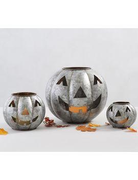 Galvanized Metal Jack O'lanterns by Pottery Barn