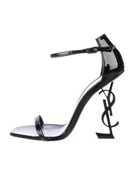 High Heel Patent Leather Sandals by Yves Saint Laurent