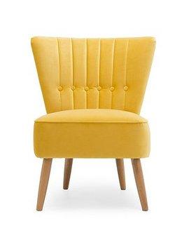 Isla Velvet Cocktail Chair   Citrus by Dunelm