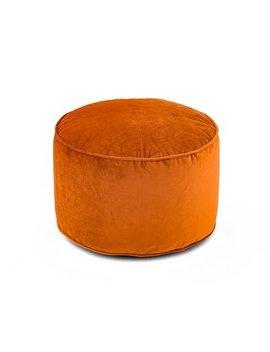 Isla Pouffe   Orange by Dunelm
