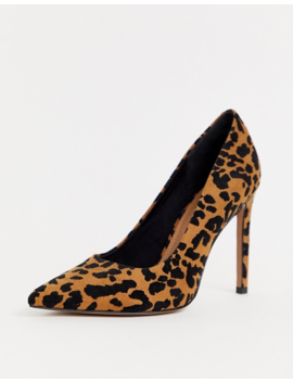 Asos Design Porto Pointed High Heeled Pumps In Leopard by Asos Design