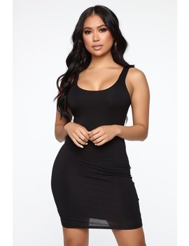 Your Needs Met Mini Dress   Black by Fashion Nova