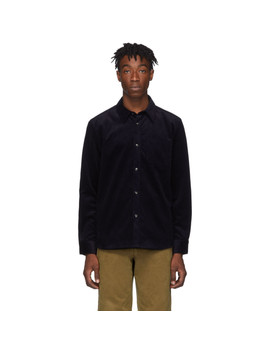 Navy Corduroy Marc Shirt by A.P.C.