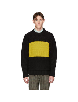 Black Alpaca Oversized Chunky Sweater by Paul Smith