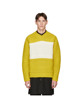 Yellow Oversized Chunky Sweater by Paul Smith