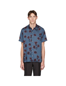 Blue Floral Casual Fit Shirt by Ps By Paul Smith