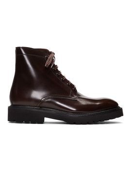 Burgundy Farley Boots by Paul Smith