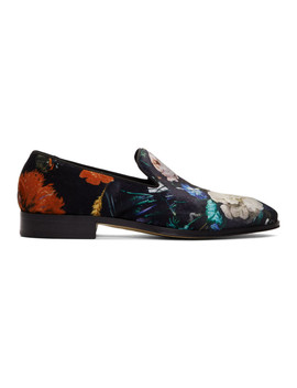 Black Floral Tudor Loafers by Paul Smith