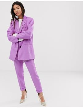 Asos Design Oversized Dad Blazer In Lilac by Asos Design
