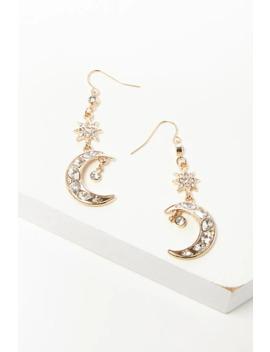 Moon & Star Drop Earrings by Forever 21
