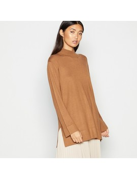 Camel Side Tie Knitted Top by Kley
