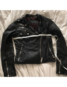 Leather Motorcycle Style Jacket by Black Rivet