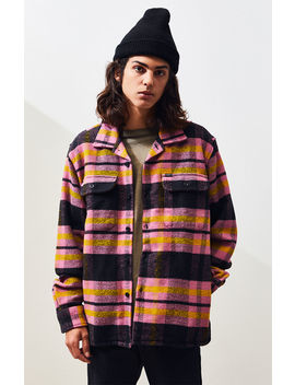 Obey Fitzgerald Heavyweight Plaid Flannel Shirt by Pacsun