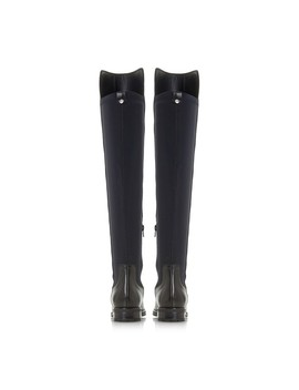 Black Leather 'tarrin' Over The Knee Boots by Dune