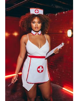 Night Shift Nurse 3 Piece Costume Kit   White by Fashion Nova