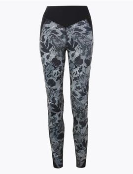 Feature Pocket Printed Leggings by Marks & Spencer