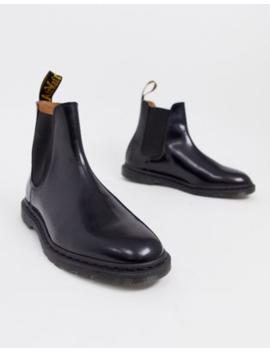Dr Martens – Graeme – Schwarze Chelsea Stiefel In Polierter Glatter Optik by Asos