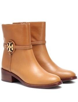 Miller Leather Ankle Boots by Tory Burch