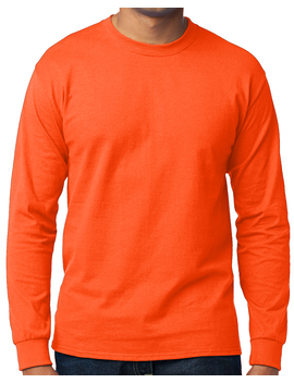 Men's High Visibility Long Sleeve T Shirt   Neon Orange, Medium by Buy Cool Shirts