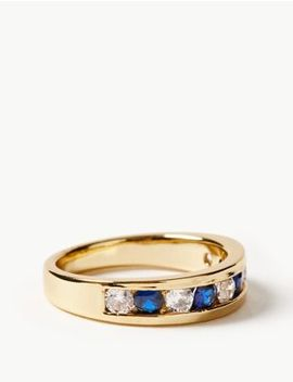 Gold Plated Stone Set Ring by Marks & Spencer