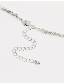 Asos Design Crystal Belly And Suspender Style Leg Chain In Silver Tone by Asos Design