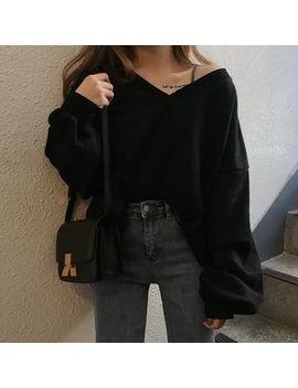 Konger   V Neck Sweatshirt by Konger