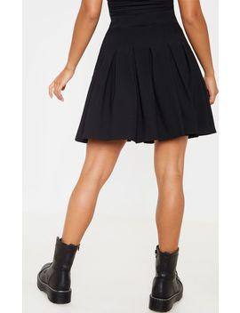 Petite Black Pleated Side Split Tennis Skirt  by Prettylittlething