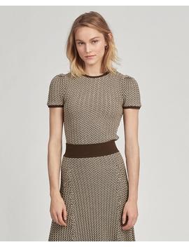 Wool Short Sleeve Sweater by Ralph Lauren