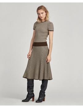Herringbone Ribbed Wool Skirt by Ralph Lauren