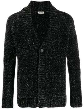 Cardigan In Glitter Optik by Saint Laurent