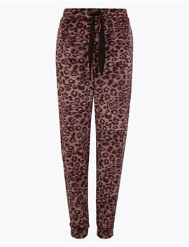 Fleece Animal Print Lounge Pant by Marks & Spencer