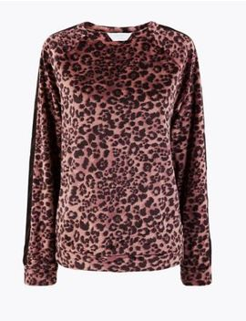 Fleece Animal Print Lounge Top by Marks & Spencer