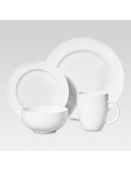16pc Porcelain Dinnerware Set White   Threshold™ by Shop Collections