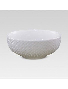 24oz Porcelain Beaded Cereal Bowl White   Threshold™ by Threshold