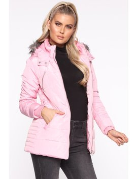 Don't Hide From Me Puffer Jacket   Pink by Fashion Nova