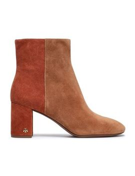 Brooke Two Tone Suede Ankle Boots by Tory Burch