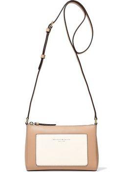 Two Tone Leather Shoulder Bag by Donna Karan