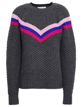 Striped Wool Blend Sweater by Milly