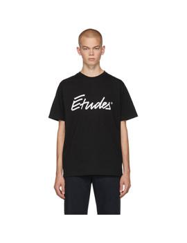 Black Signature Logo Wonder T Shirt by Études